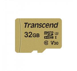 Transcend MicroSDXC/SDHC 500S 32GB Class 10 95MB/S 4K Ultra HD V30
