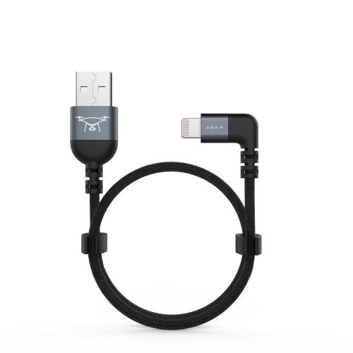 Adam Elements Peak II Fleet L30B Lightning to USB-A Right Angle Charging Cable