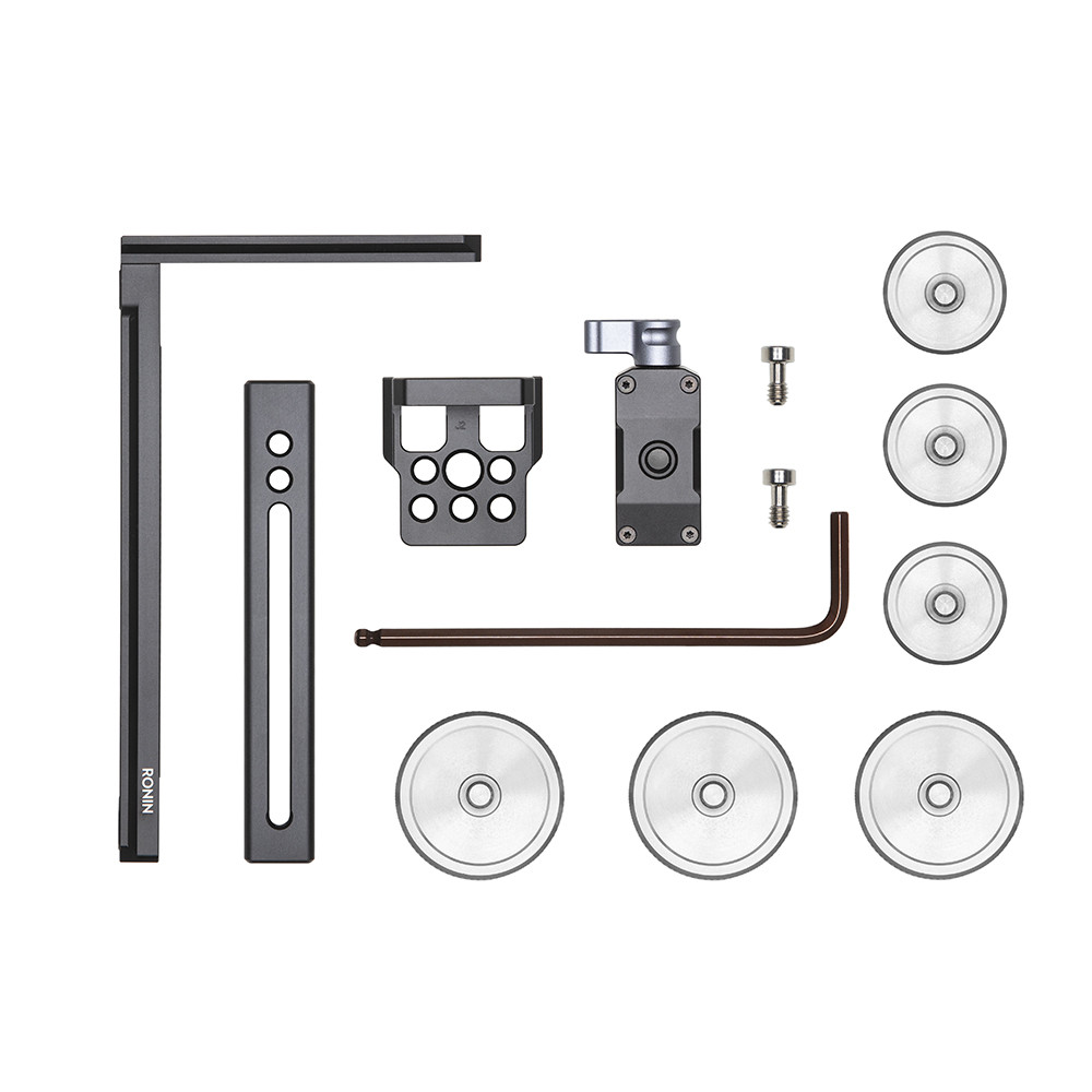 Flushzing Reemplazo para dji Ronin S port/átil del card/án extensi/ón Externa Placa de Montaje de ALU um micr/ófono Monitor Titular de Montaje